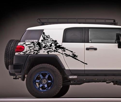 Toyota fj cruiser side mud splash vinyl decals stickers 2 jpg