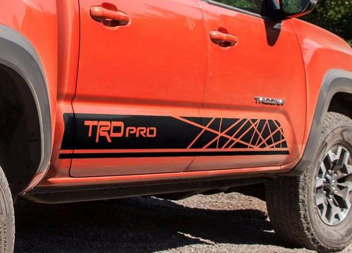 Toyota-TACOMA-2016-TRD-PRO-graphics-Side-stripe-decal-