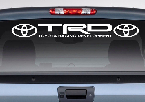 Toyota Logo Racing Development TRD Motorsport Banner Strip Car Windshield Vinyl Sticker Decal Camry Tundra Tacoma RAV4 Corolla