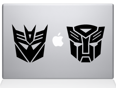 Transformers decal sticker macbook apple