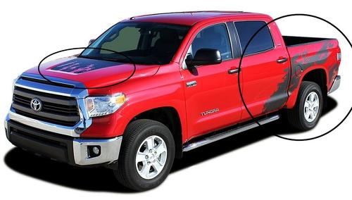 Toyota Tundra Truck Bed Hood SHREDDER Vinyl Graphics Decal Sticker