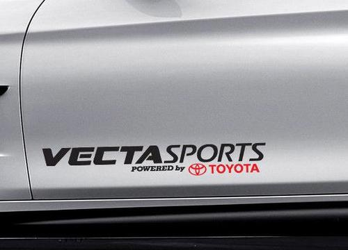 Vecta Sports Powered by Toyota Car Decal Vinyl Sticker TRD Scion Corolla Yaris A