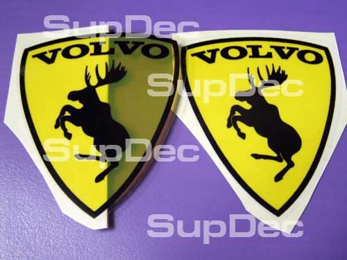 Volvo emblem 2 DECALS STICKERS transparency