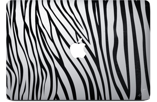Zebra Apple Macbook Decal Sticker