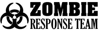 2 Zombie Response Team Door JDM Set Vinyl Car apocalypse Sticker