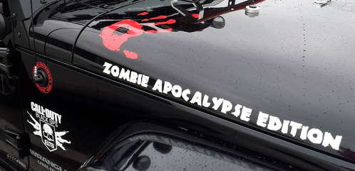 2 Zombie Apocalypse Edition Call Of Duty Black ops Wrangler Rubicon Zombie hand decals jeep kit