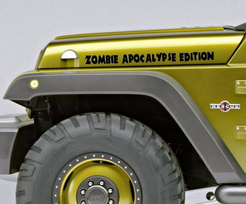 2 Zombie Apocalypse Edition Wrangler Rubikon CJ TJ YK JK XJ Viny