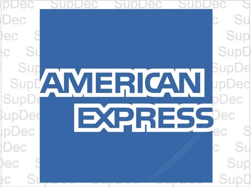 american express decal