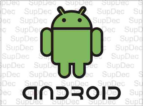 Android Color Car Decal Sticker