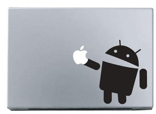 Apple robot macbook decal sticker
