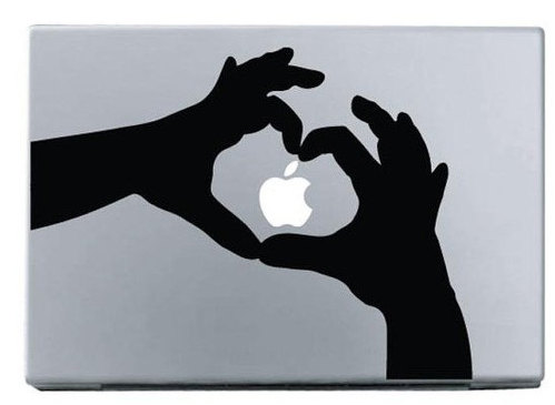 apple hand love  macbook decal macbook sticker