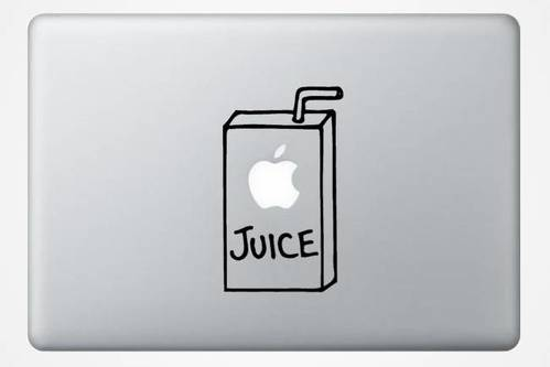 Apple juice MacBook Decal Sticker