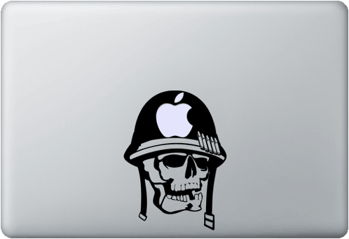 Army Skull MacBook Decal Sticker