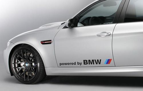 Pair BMW powered by BMW decal sticker