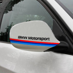BMW MOTORSPORT Power Mirror Cover Decal sticker BLACK (PAIR)