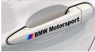 BMW Motorsport Door Handle Decal sticker emblem logo Red (pair)