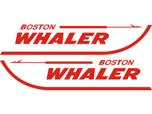 Boston Whaler Boat Decals Die-Cut 2-Pak