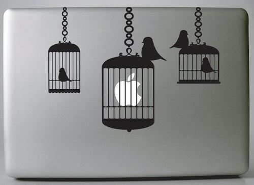 Apple caged macbook decal sticker