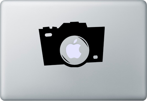 camera decal sticker macbook apple