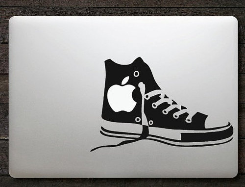 Apple canvas shoes macbook decal sticker