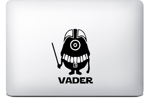 darth vader minion sticker macbook