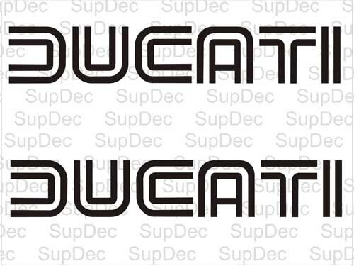 DUCATI decals stickers