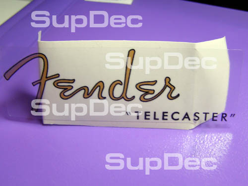 Fender telecaster GOLD guitar decal sticker vinyl