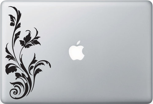Filigree 01 Apple Macbook Decal Sticker