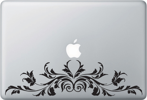 Filigree 02 Apple Macbook Decal Sticker