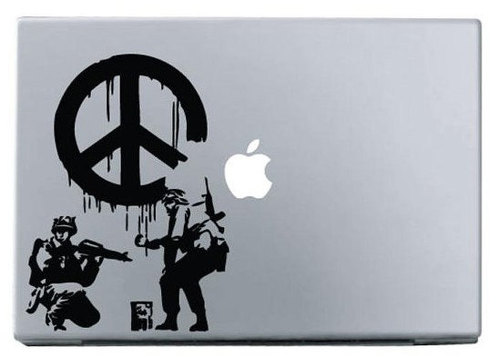 Apple fire action macbook decal sticker