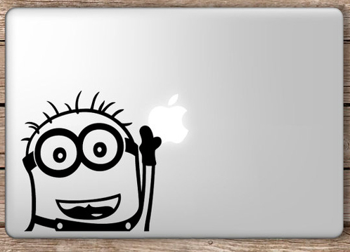 funny minion decal sticker macbook apple