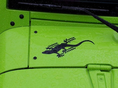 2-Jeep Gecko Wrangler Rubicon CJ TJ YK JK XJ Vinyl Sticker Decal