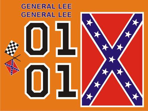 General Lee Decal KIt