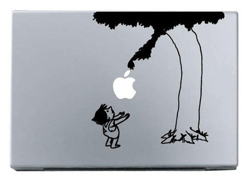 Apple giving tree macbook decal sticker