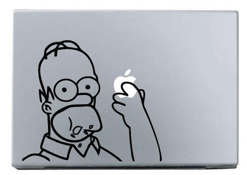 Apple glasses man macbook decal sticker
