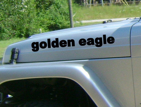 2 golden eagle Jeep Wrangler Rubicon CJ TJ YK JK  Vinyl Stickers
