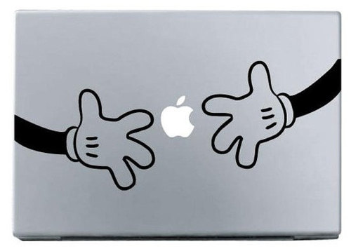 Apple hand by hand macbook decal sticker