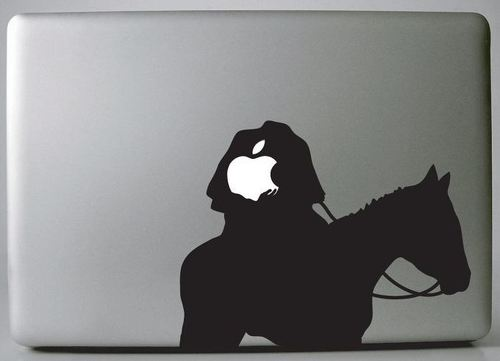 Apple headless horseman  macbook decal sticker