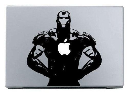 Apple iron man macbook decal sticker