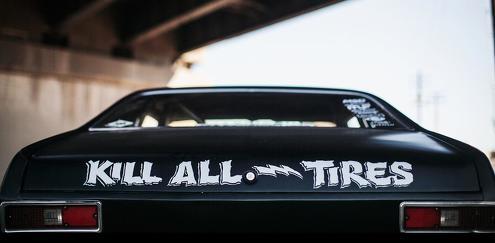 töten alle Reifen Aufkleber Aufkleber passt für alle Autos