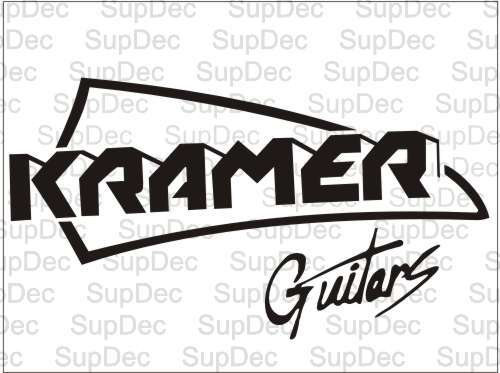 kramer guitars decal sticker