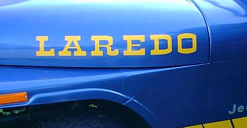 2 LAREDO Jeep Wrangler Rubikon TJ YK JK XJ Vinyl Aufkleber Aufkleber