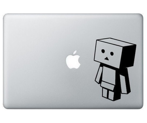 Apple logo man macbook decal sticker