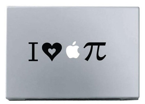 Apple love apple pie macbook decal sticker
