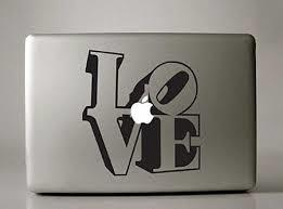 Liebe MacBook Aufkleber Aufkleber