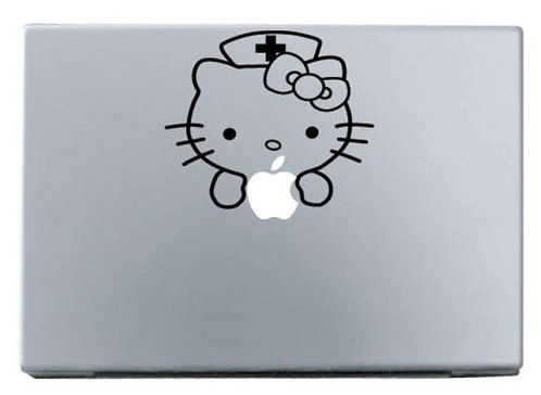 Apple lovely kitty macbook decal sticker