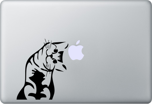 Meow cat MacBook Decal Sticker