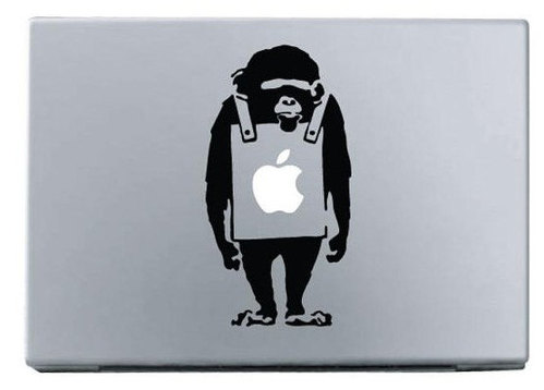 Apple monkey macbook decal sticker