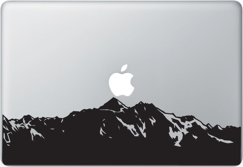 Mountains Apple Macbook Decal Sticker