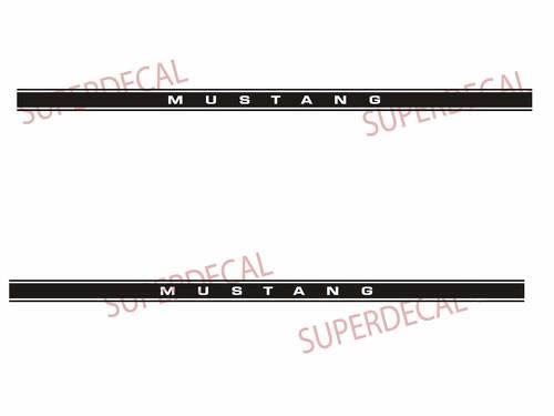 Mustang-Streifen l GLOSS BLACK Pro Grade Vinyl-Aufkleber